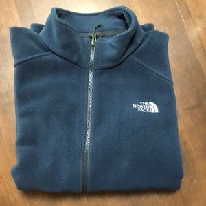 Mens XXL North Face Zippered Fleece | Navy